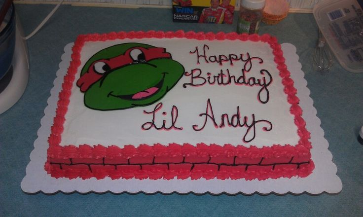 Ninja turtles cake | Sheet Cakes | Pinterest | Ninja ...