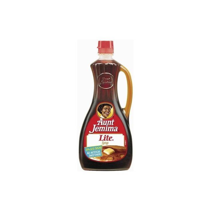 Sirop d'érable allégé en sucre Aunt Jemina : « Aunt Jemima Lite Syrup »