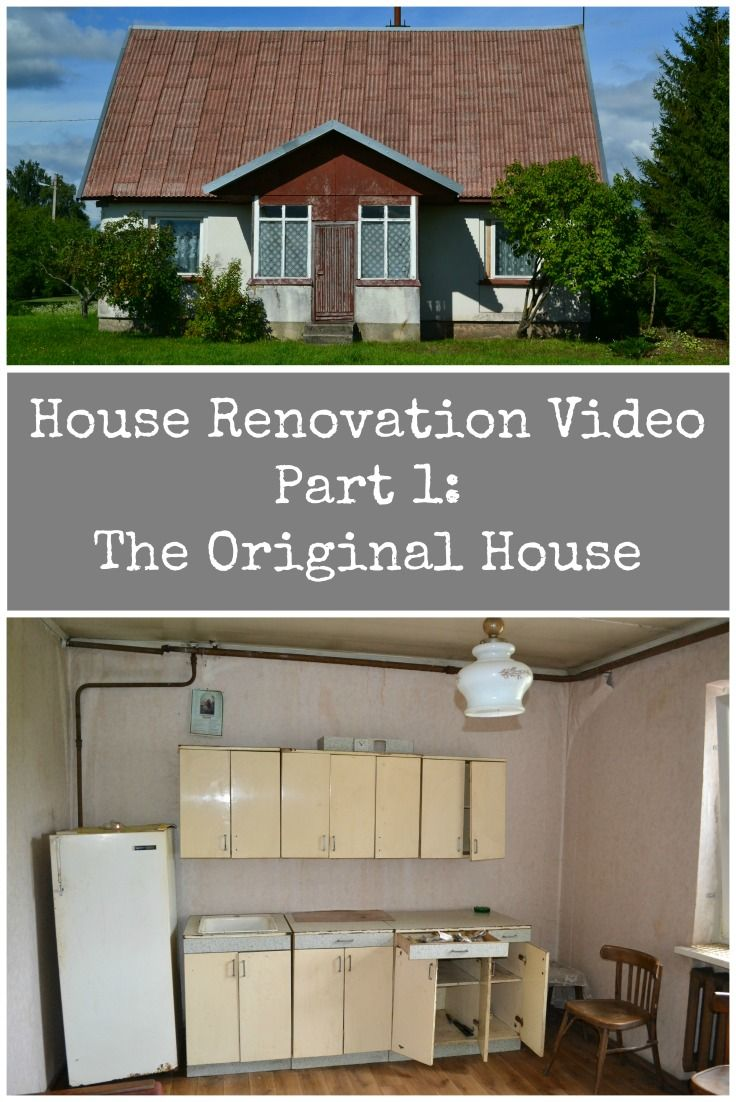 Video of our House Renovation Project in Lithuania. Part 1 - The Original House. It really was in very bad condition.