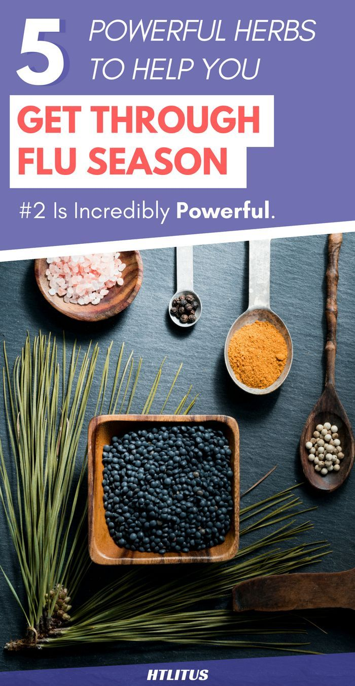 Here's a list of 5 powerful herbs that will help you get through flu season!