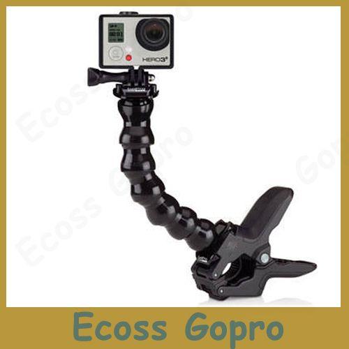 Go Pro Accessories Adjustable Neck gopro camera Jaws Flex Clamp Mount Flexible Tripod  for Gopro hero 4/3+3/2 Camera Accessories