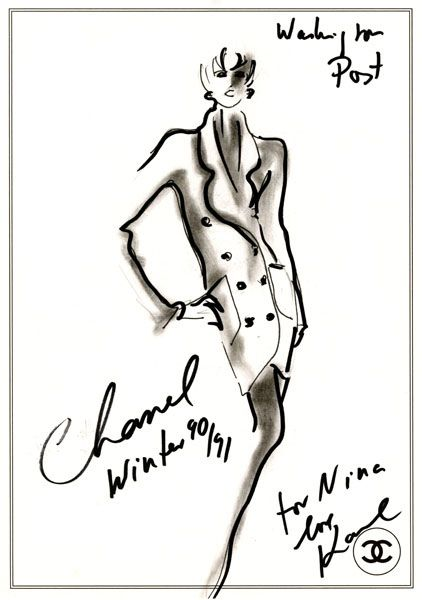 Karl Lagerfeld sketch for Chanel