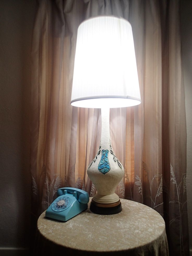 Table Lamp Retro Plasto Mfg. plaster, hand painted and 3 way switch Mid century Hippie Boho by MyRetroRecollections on Etsy