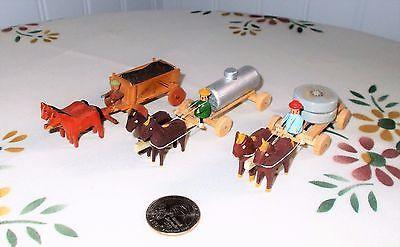 "Vtg Antique Erzgebirge Miniatures: Utility Trucks w/ Drivers & Cargo from 1930""s   eBay"