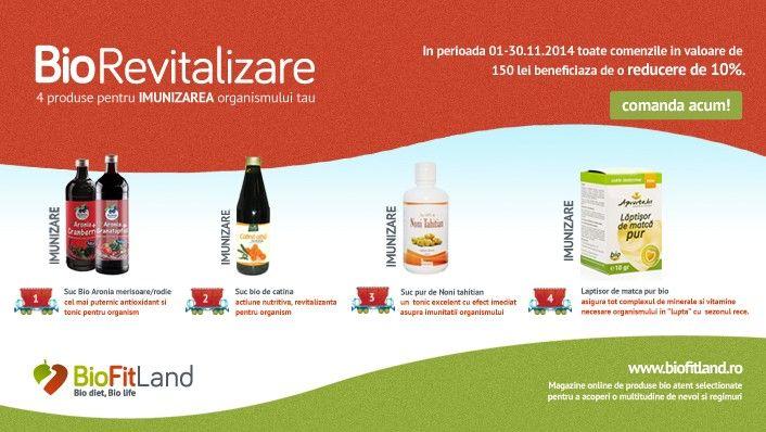 Biorevitalizare - produse bio pentru imunizarea organismului