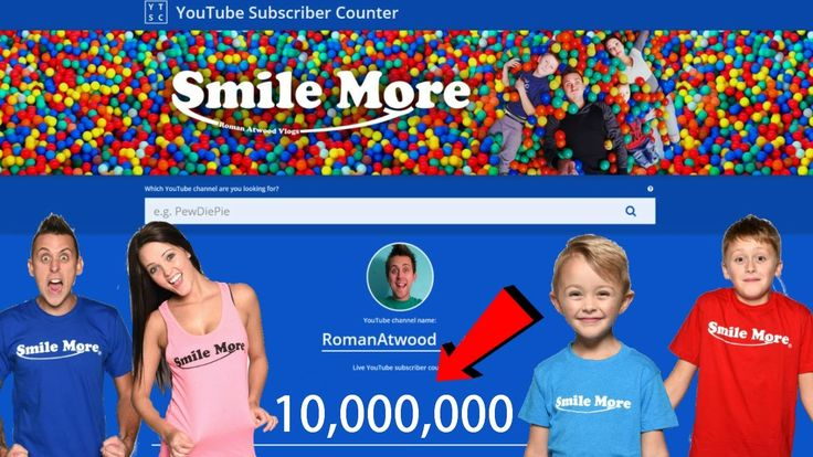 ROMAN ATWOOD PRANK CHANNEL LIVE SUB COUNT! ROAD TO 10 MILLION!!
