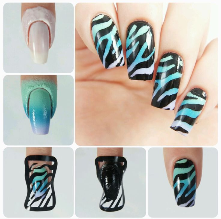 How to create perfect Zebra  accent nails using our Zebra Nail Stencils found at snailvinyls.com