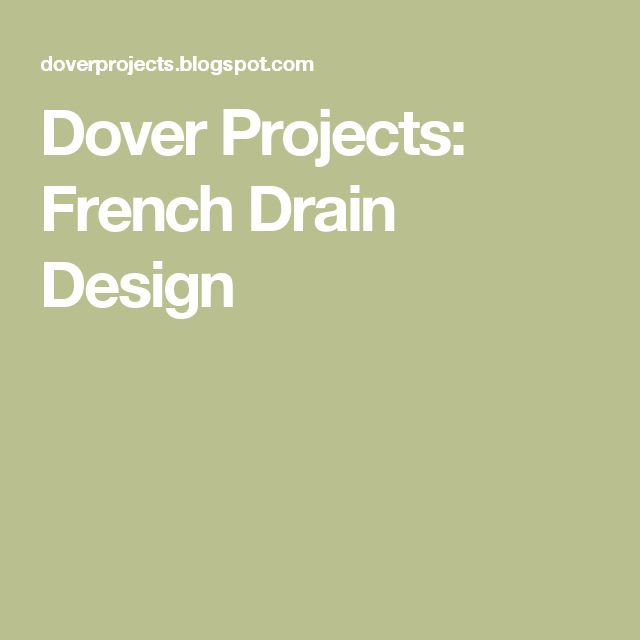 17 Best Ideas About French Drain On Pinterest Drainage