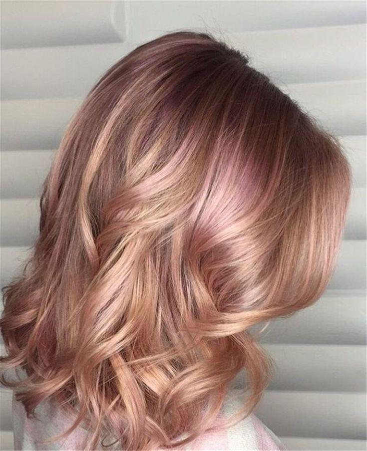 40 wunderschöne Rose Gold Haarfarbe Ideen für Sie – Seite 33 von 40 – Hairstyles