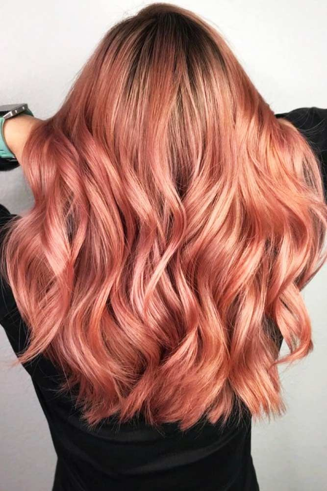 Light Rose Gold Balayage #balayage #rosegoldhair ★ You have probably noticed that rose gold hair is in for a while alrea…