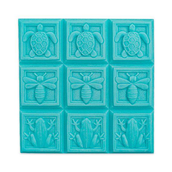Fauna art deco Tray Soap Mold   Soapmaking supplies   Soapmaking mold   Handmade soaps, soapmaking, melt & pour, Cold process soap
