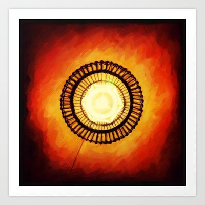 Lamp Art Print by Plasmodi - $16.00