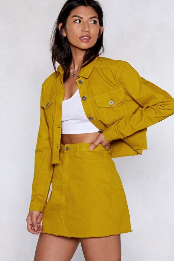 f1ccc5f080 Come Together Denim Jacket and Skirt Set in 2019 | Style | Jackets ...