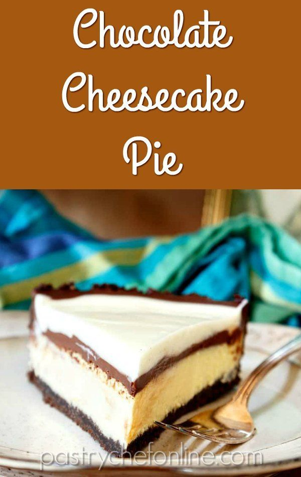Creamy Cheesecake Filling Plus Rich Fudge Sauce And Sweetened Sour Cream Topping All Piled Into A Not Too S Cheesecake Recipes Fudge Sauce Chocolate Cheesecake