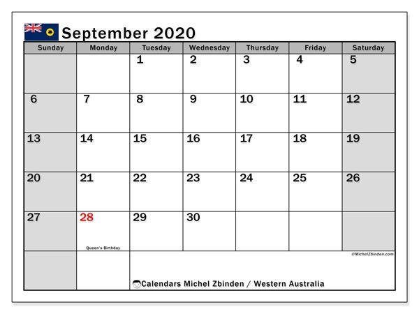September 2020 Calendar Australia In 2020 Free Printable Calendar Calendar Printables Calendar May