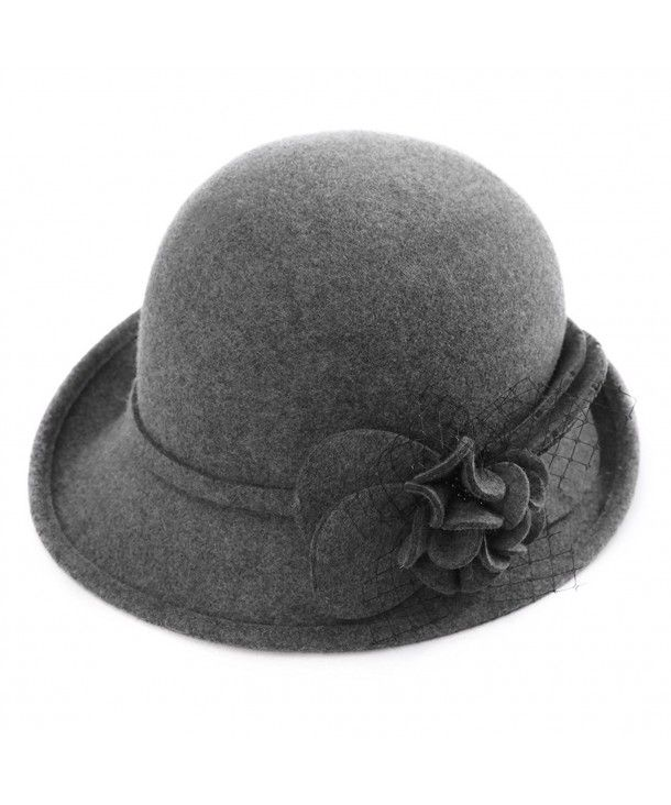 ef580cd20c787a Hats & Caps, Women's Hats & Caps, Fedoras, Womens 1920s Vintage Wool Felt