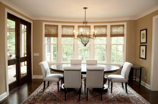 Organic Indoors Woven Wood Shades And Bamboo Blinds For Contemporary Homes Dining Room Windows Dining Room Window Treatments Dining Room Design