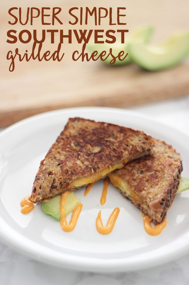 Why settle for a plain old grilled cheese when you can add some punch to it with avocado and chipotle mayo? This super simple Southwest grilled cheese recipe will knock your socks off!   Super simple Southwest grilled cheese recipe http://eatdrinkandsavemoney.com/2016/10/17/southwest-grilled-cheese-recipe/