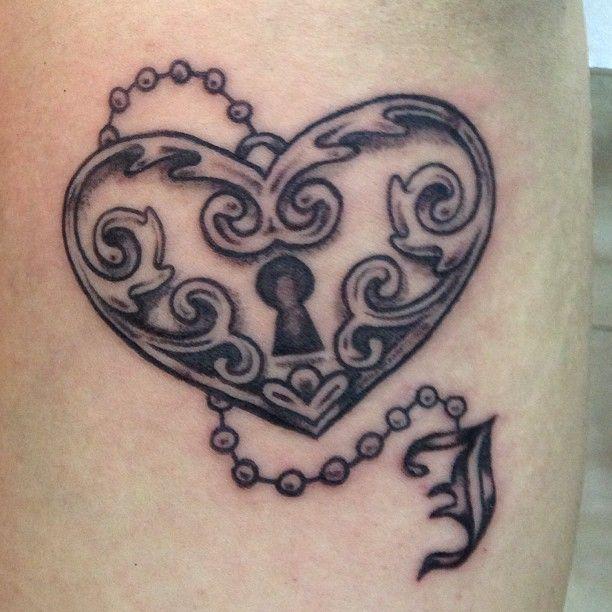 Simple Lock Heart Tattoo Design | Cool Tattoo Designs
