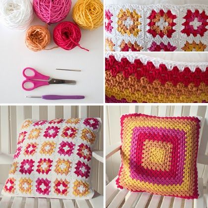 Crochet For Children: Crochet a Gorgeous Granny Square Cushion Cover