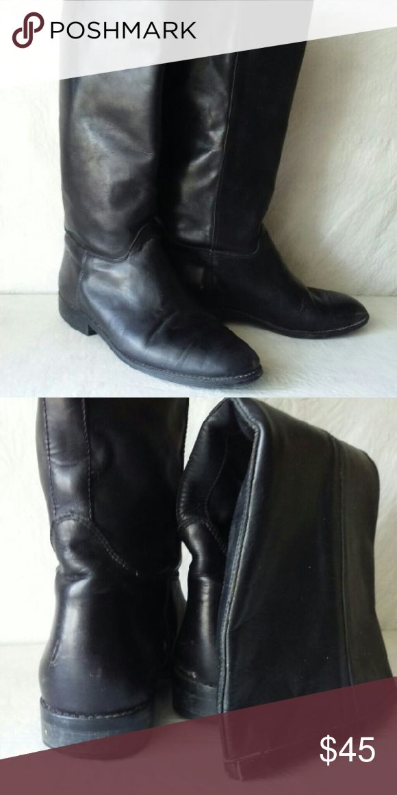 SEYCHELLES  Boots 9 Black leather SEYCHELLES  Boots. Good condition, just a few scuffs that some polish will take care of. Seychelles Shoes