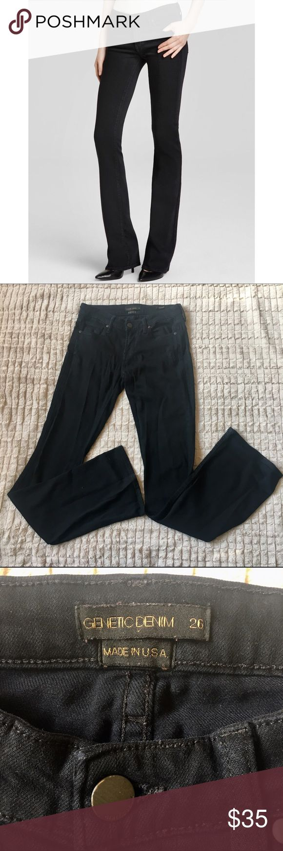 Genetic Denim black bootcut jeans Super cute and stylish. Pre-loved but lots of wear still in them :) Genetic Denim Jeans Boot Cut