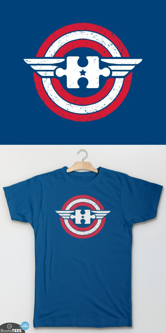 """Captain Autism"" Captain America Autism T-Shirt for Autism Awareness Month 