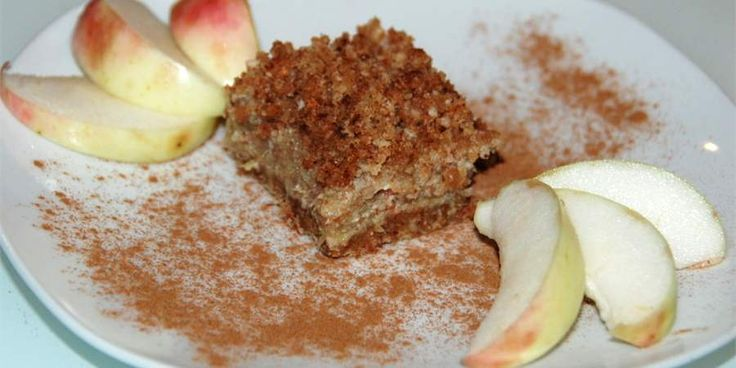 Apple-Rhubarb Date Crumble Cake with Almond Date CrumbleApples Rhubarb ...