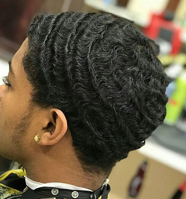Boy Cut Hairstyles For Curly Hair Follow Champagnekayyy For More 360 Waves Hair