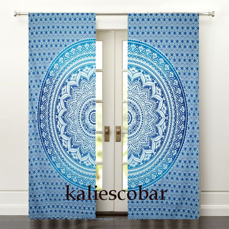 Cotton Ombre Mandala Door Window Curtain Valances Hanging Portiere Drape  #Unbranded #Traditional