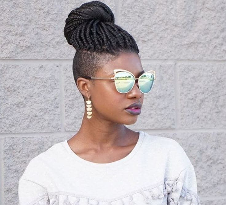 20 Best Box Braid With Tapered Low Sides Images On