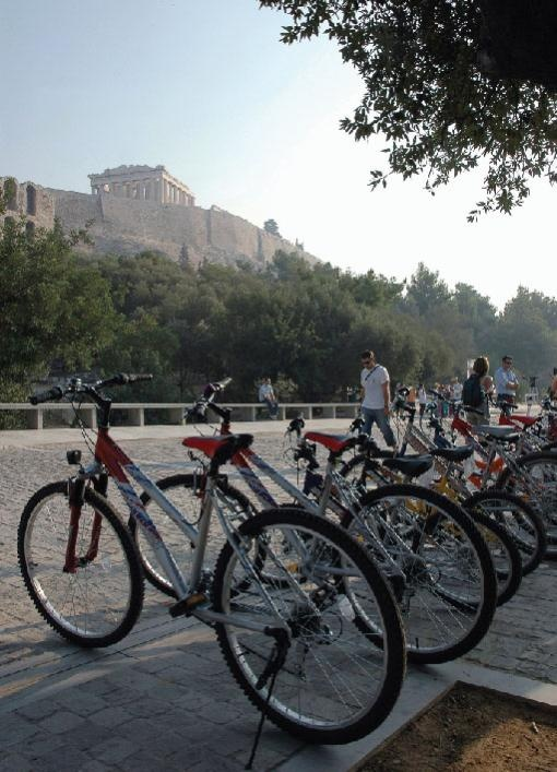 Cycling around the Akropolis