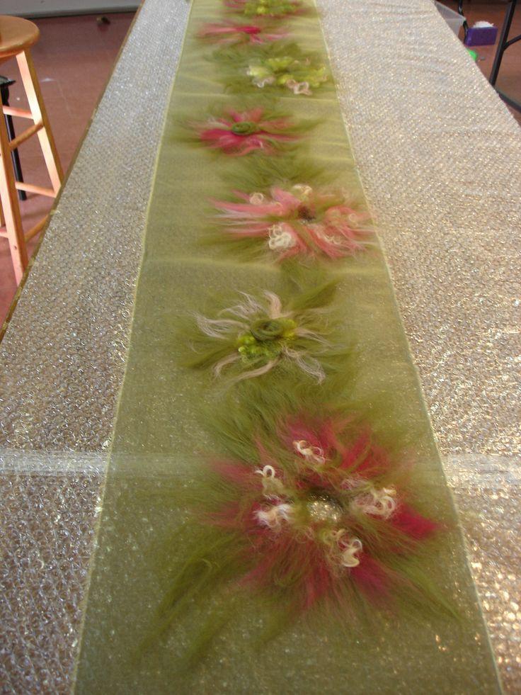 Salt Spring Craft: NUNO FELTED SHAWLS: