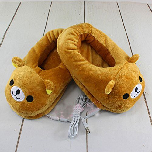 Unisex Multi-use Washable USB Heated Slipper,fashiion Cute Style Xmas Plush Heated Slippers, Warming Slippers,heating Pad, Washable Slipper Brown Bear - http://droppedprices.com/slippers/unisex-multi-use-washable-usb-heated-slipperfashiion-cute-style-xmas-plush-heated-slippers-warming-slippersheating-pad-washable-slipper-brown-bear/