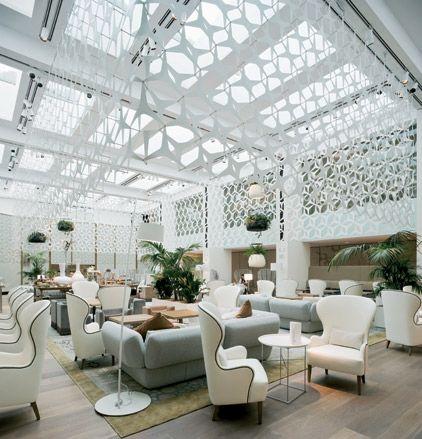 Mandarin Oriental lobby, Barcelona #hotel #lobby #white Barcelona Hotel Interior Designs