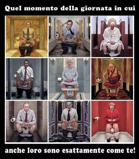 Foto Divertente: Anche le persone famose si siedono sul wc