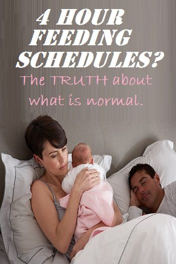 "Great article! What Kind of Breastfeeding Schedule Is Normal? A 4 hour schedule is not ""normal""!"