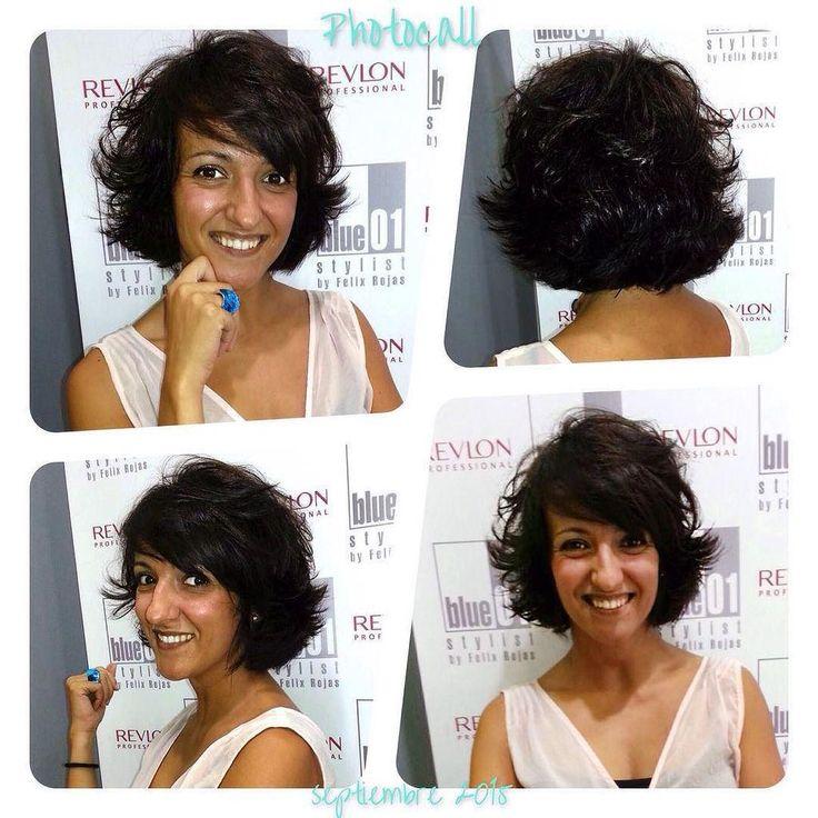 Media melena, escalada y con flequillo ladeado.  #blue01stylist #photocall #peinados #pelu… http://ift.tt/1KWsCCM