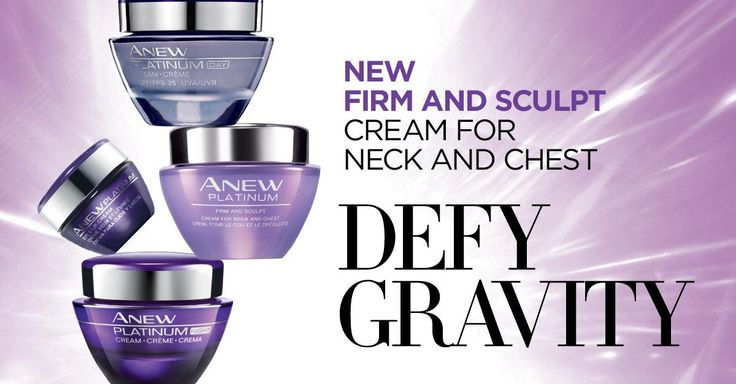 ENTER to WIN the Avon Anew Defy Gravity Contest!  You could win a 4-piece collection of Anew Platinum skincare line including the NEW Firm & Sculpt Cream.  That's a value of up to $180!   www.facebook.com/myavoncanada