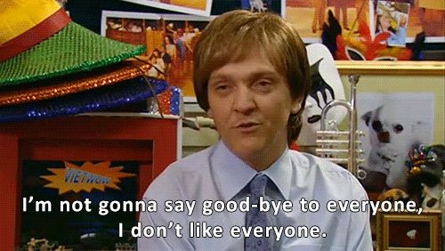 Me when I leave a party