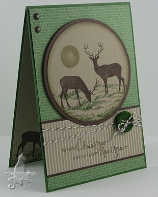Masculine Christmas card ... change the sentiment for a masculine birthday card.