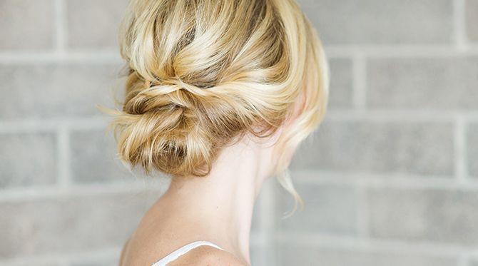 Hair DIY: Low Bun with Crisscross