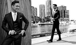 Groupon - Omiin mittoihin räätälöity, itse valitusta kankaasta valmistettu miesten puku vain 199€ (arvo 653€) kaupungissa [missing {{location}} value]. Groupon-hinta: 199€