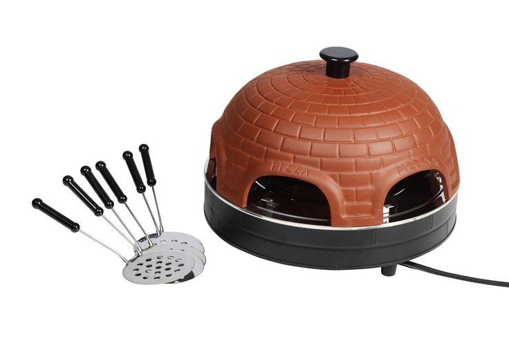 Terracotta Pizzaofen Pizzadom Mini-Pizza Backofen für 6 Personen mit Zubehör: Amazon.de: Spielzeug
