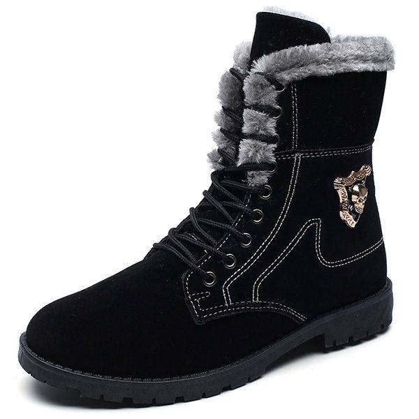men high-top plush lining winter boots  men high-top plush lining winter boots  #men's shoes