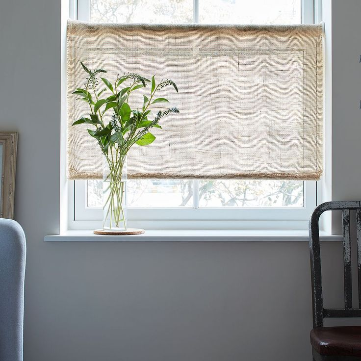 For Soft Light (and Farmhouse Vibes), DIY Rustic Burlap Roller Shades Part 80
