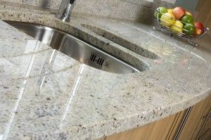 Kashmir white granite kitchen top