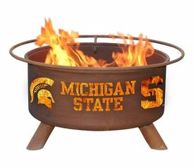 Michigan State University Spartans Metal Fire Pit