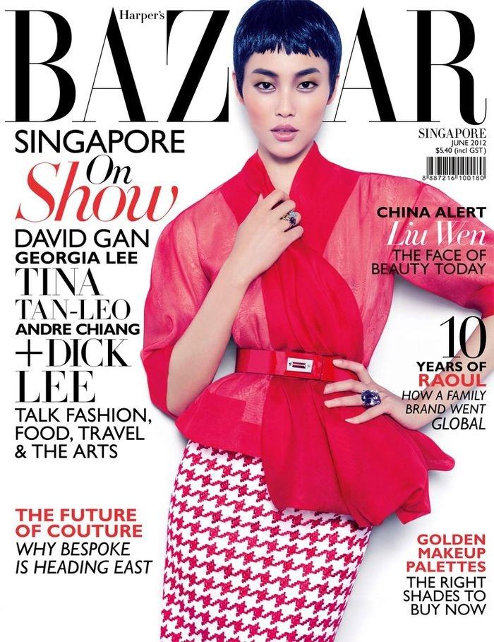 Harper's Bazaar Singapore June 2012 Liu Wen by Gan: Liu Wen, Asian Models, Bazaars Singapore, Fashion Models, Singapore June, Harpers Bazaars, June 2012, Dior Couture, Magazines Covers