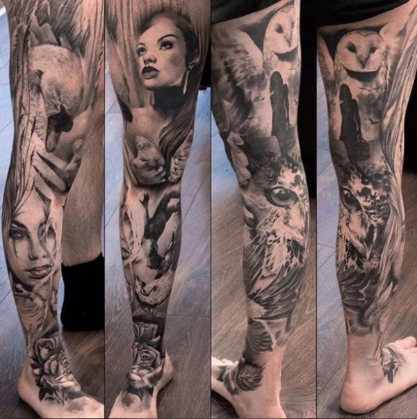 122 best images about leg tattoos on pinterest. Black Bedroom Furniture Sets. Home Design Ideas